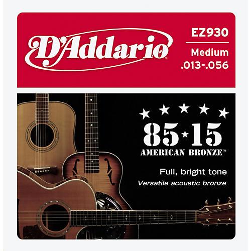 D'Addario EZ930 85/15 Bronze Great American Medium Acoustic Guitar Strings