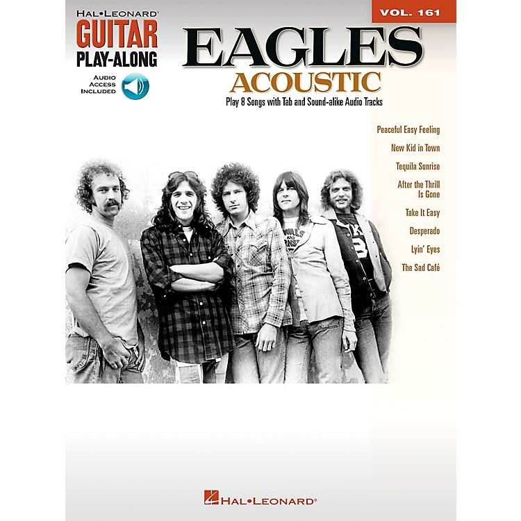 Hal Leonard Eagles Acoustic Guitar Play-Along Volume 161 (Book/CD)