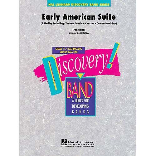 Hal Leonard Early American Suite Concert Band Level 1.5 Arranged by John Moss-thumbnail