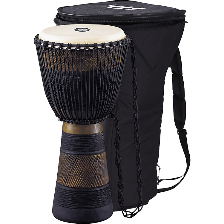 Meinl Earth Rhythm Series Original African-Style Rope-Tuned Wood Djembe with Bag Large