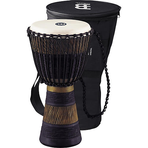 Meinl Earth Rhythm Series Original African-Style Rope-Tuned Wood Djembe with Bag Medium
