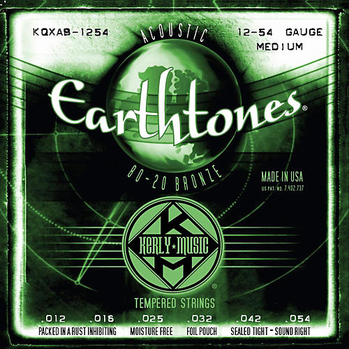 Kerly Music Earthtones 80/20 Bronze Acoustic Guitar Strings - Medium Gauge