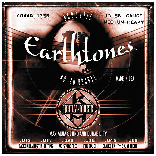 Kerly Music Earthtones 80/20 Bronze Acoustic Guitar Strings - Medium Heavy