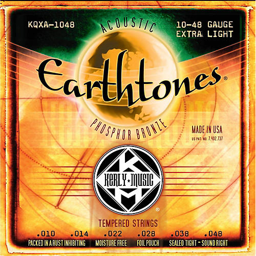 Kerly Music Earthtones Phosphor Bronze Acoustic Guitar Strings - Extra Light