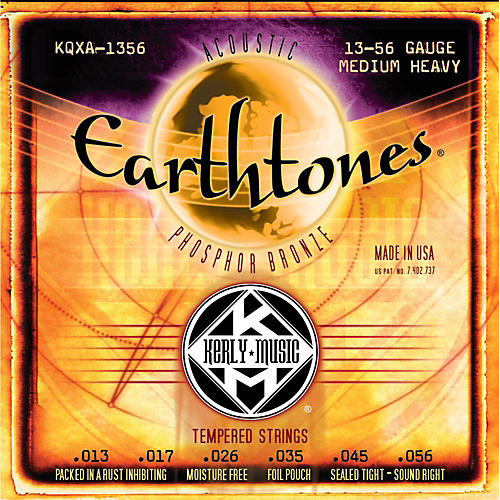 Kerly Music Earthtones Phosphor Bronze Acoustic Guitar Strings - Medium Heavy