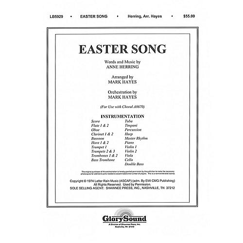 Shawnee Press Easter Song (Orchestration) ORCHESTRA ACCOMPANIMENT arranged by Mark Hayes-thumbnail