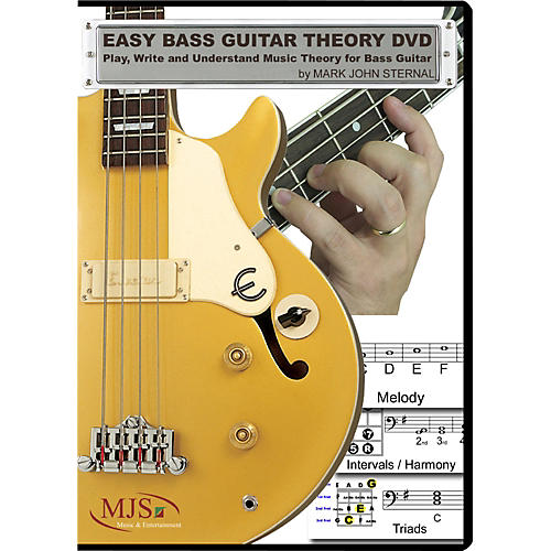 MJS Music Publications Easy Bass Guitar Theory (DVD) Play, Write and Understand Music Theory For Bass