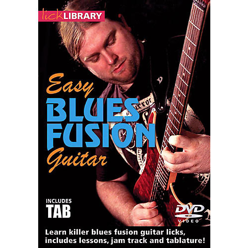 Hal Leonard Easy Blues Fusion Guitar Lick Library DVD