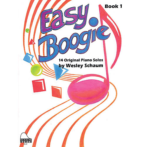 SCHAUM Easy Boogie Book 1 Educational Piano Series Softcover Composed by Wesley Schaum-thumbnail