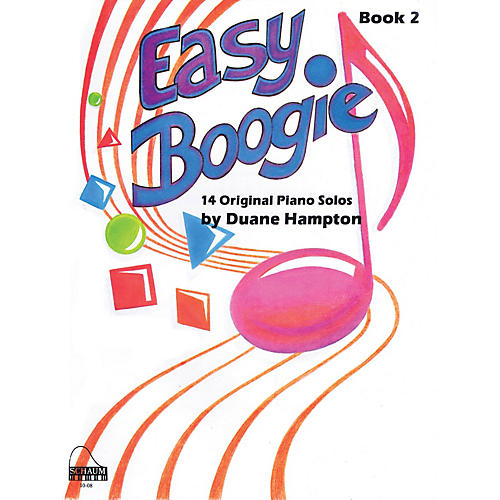 SCHAUM Easy Boogie Book 2 Educational Piano Series Softcover Composed by Duane Hampton-thumbnail