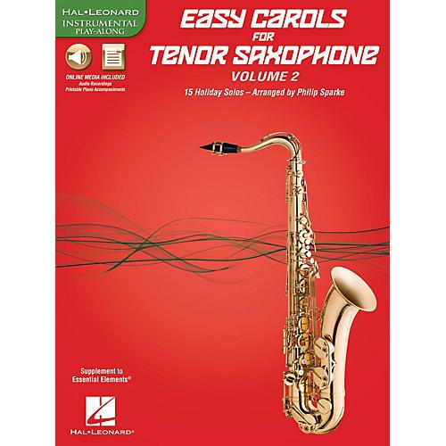 Hal Leonard Easy Carols For Tenor Saxophone, Vol. 2 Instrumental Folio Series Book Media Online-thumbnail