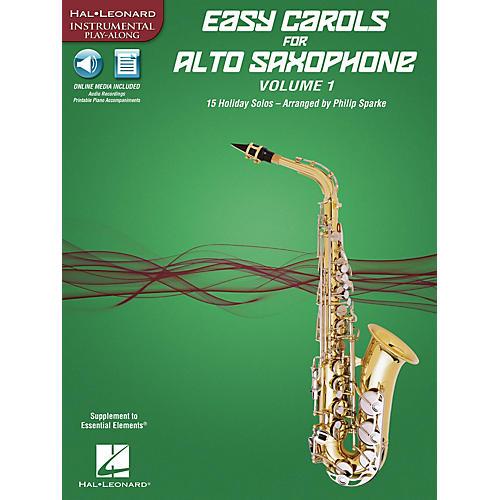 Hal Leonard Easy Carols for Alto Saxophone, Vol. 1 Instrumental Folio Series Book Media Online