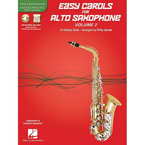 Hal Leonard Easy Carols for Alto Saxophone, Vol. 2 Instrumental Folio Series Book Media Online-thumbnail
