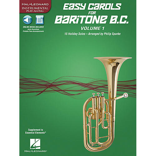 Hal Leonard Easy Carols for Baritone B.C. - Vol. 1 Instrumental Folio Series Softcover Media Online