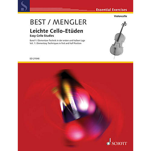 Schott Easy Cello Studies - Volume 1 (Elementary Techniques in First and Half Position) String Series Softcover-thumbnail