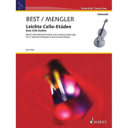 Schott Easy Cello Studies Volume 2 (Further Techniques in First to Fourth Position) String Series Softcover-thumbnail