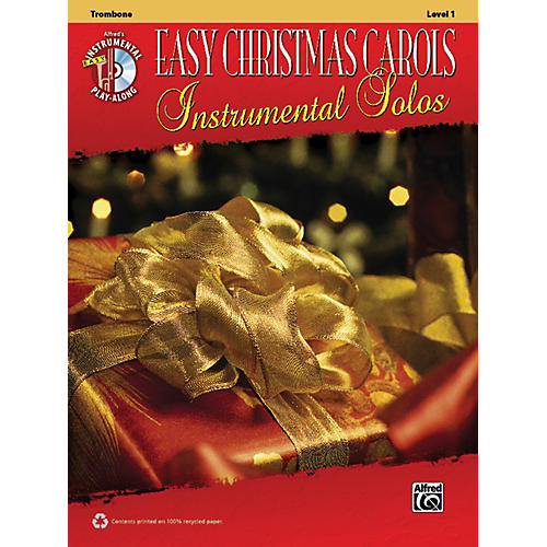 Alfred Easy Christmas Carols Instrumental Solos Trombone Book & CD-thumbnail