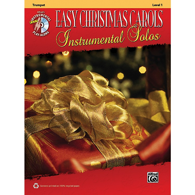 Alfred Easy Christmas Carols Instrumental Solos Trumpet Book & CD
