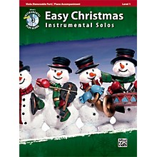 Alfred Easy Christmas Instrumental Solos Level 1 for Strings Viola Book & CD