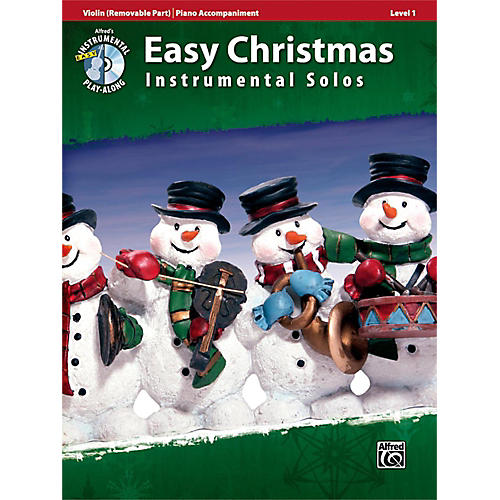 Alfred Easy Christmas Instrumental Solos Level 1 for Strings Violin Book & CD-thumbnail