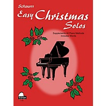 SCHAUM Easy Christmas Solos (Late Primer Early Elemetnary Level) Educational Piano Book