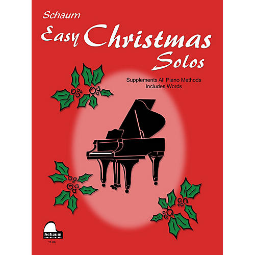 SCHAUM Easy Christmas Solos (Late Primer Early Elemetnary Level) Educational Piano Book-thumbnail