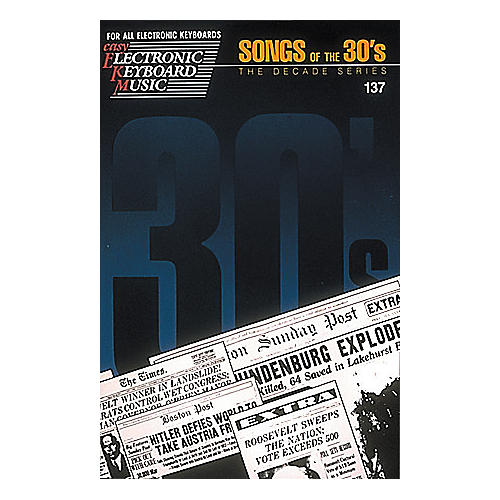 Hal Leonard Easy Electronic Keyboard Music #137 - Songs of the 30's-thumbnail