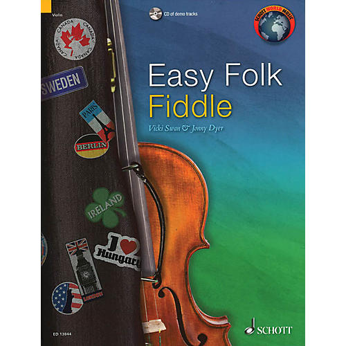 Schott Easy Folk Fiddle (52 Pieces) String Series Softcover with CD-thumbnail