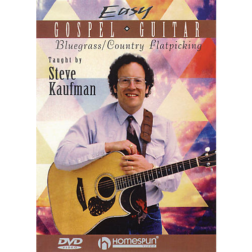 Homespun Easy Gospel Guitar Instructional/Guitar/DVD Series DVD Written by Steve Kaufman-thumbnail