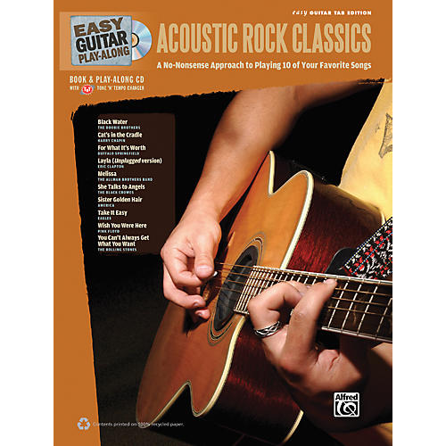 Alfred Easy Guitar Play-Along Acoustic Rock Classics Book & CD-thumbnail