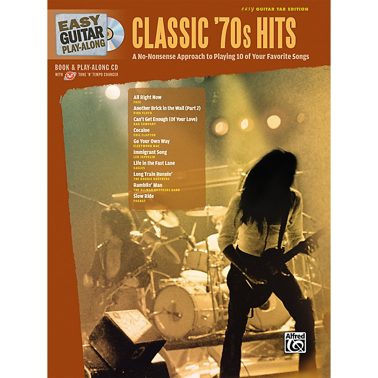 AlfredEasy Guitar Play-Along Classic '70s Hits Book & CD