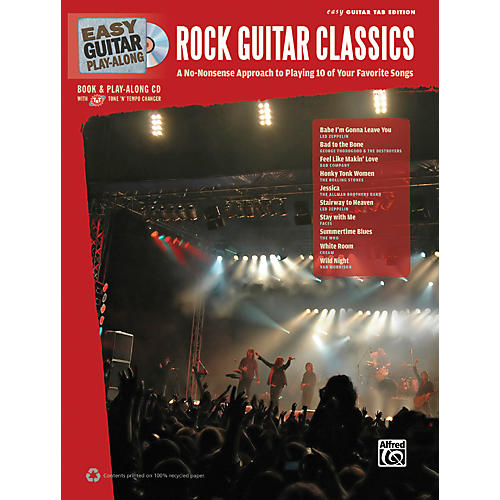 Hal Leonard Easy Guitar Play-Along Rock Guitar Classics Book & CD