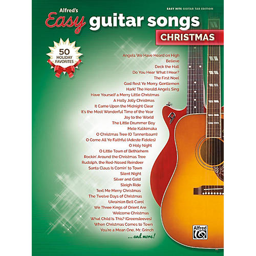Alfred Easy Guitar Songs: Christmas Easy Hits Guitar TAB Songbook-thumbnail