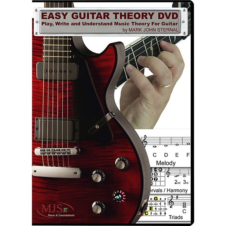 MJS Music Publications Easy Guitar Theory (DVD) Play, Write and Understand Music Theory For Guitar