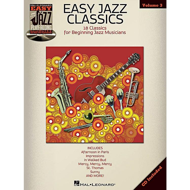 Hal LeonardEasy Jazz Classics - Easy Jazz Play-Along Vol. 3 Book/CD