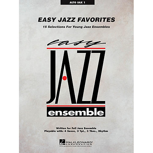 Hal Leonard Easy Jazz Favorites - Alto Sax 1 Jazz Band Level 2 Composed by Various-thumbnail