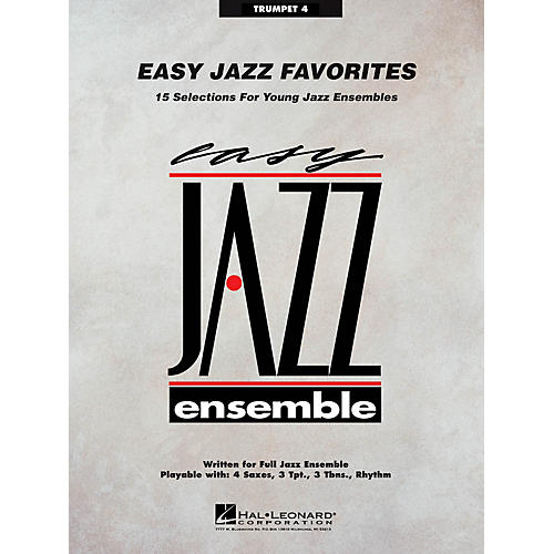 Hal Leonard Easy Jazz Favorites - Trumpet 4 Jazz Band Level 2 Composed by Various