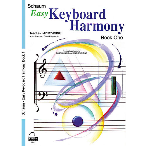 SCHAUM Easy Keyboard Harmony (Book 1 Upper Elem Level) Educational Piano Book by Wesley Schaum-thumbnail