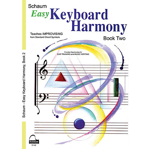 SCHAUM Easy Keyboard Harmony Educational Piano Book by Wesley Schaum (Level Early Inter)-thumbnail