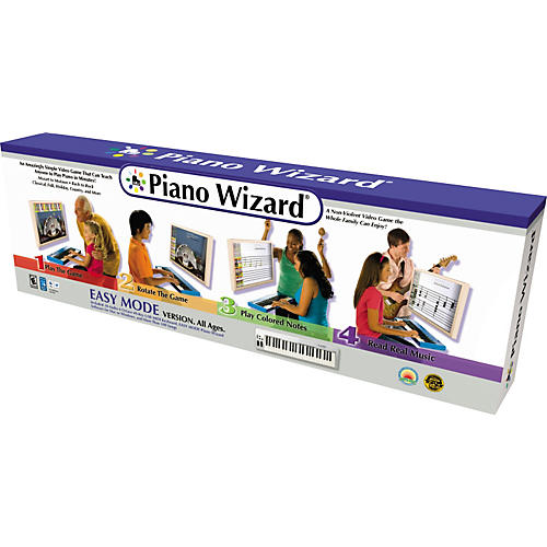 Piano Wizard Easy Mode Video Game Software with Keyboard