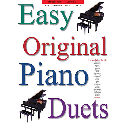 Music Sales Easy Original Piano Duets Music Sales America Series Softcover-thumbnail