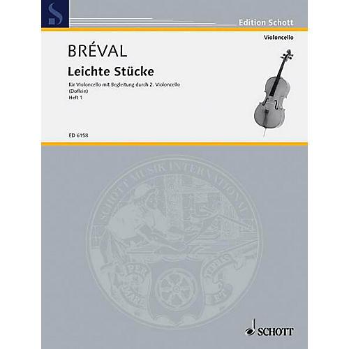 Schott Easy Pieces Vol. 1 (Performance Score) Schott Series Composed by Jean Baptiste Bréval-thumbnail