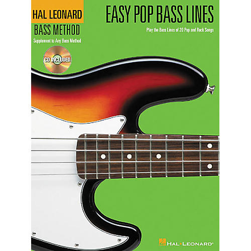 Hal Leonard Easy Pop Bass Lines Tab Book with CD-thumbnail
