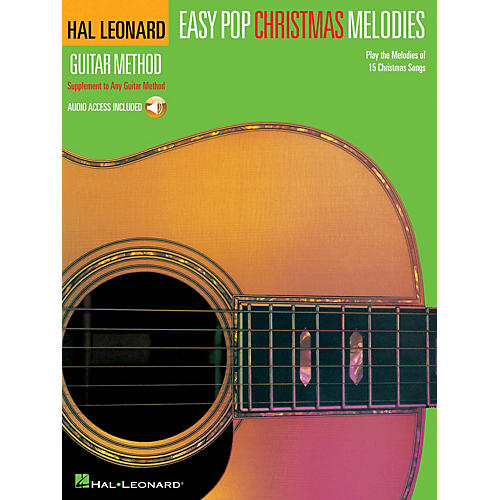 Hal Leonard Easy Pop Christmas Melodies Guitar Method Series Softcover Audio Online Performed by Various-thumbnail