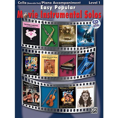 Alfred Easy Popular Movie Instrumental Solos Cello