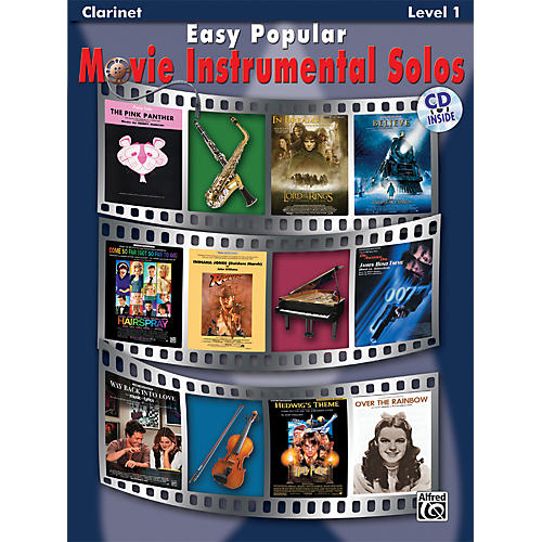 Alfred Easy Popular Movie Instrumental Solos Clarinet