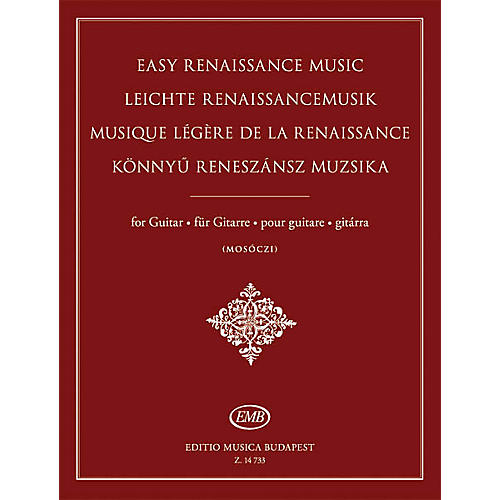 Editio Musica Budapest Easy Renaissance Music for Guitar EMB Series Softcover-thumbnail