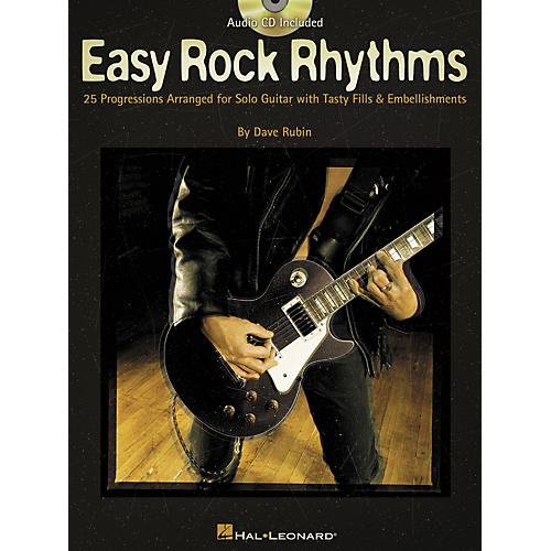 Hal Leonard Easy Rock Rhythms for Guitar Book with CD