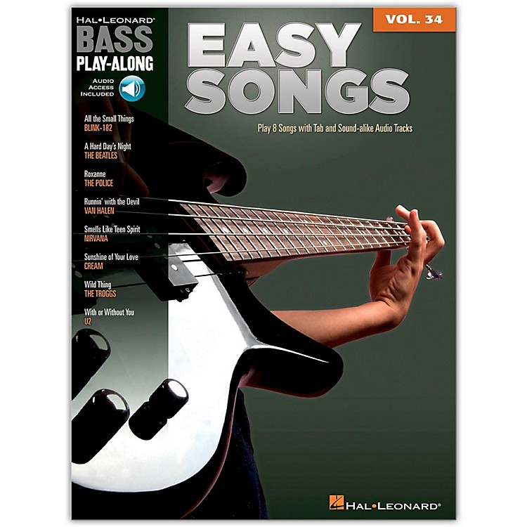 Hal Leonard Easy Songs - Bass Play-Along Volume 34 Book/CD