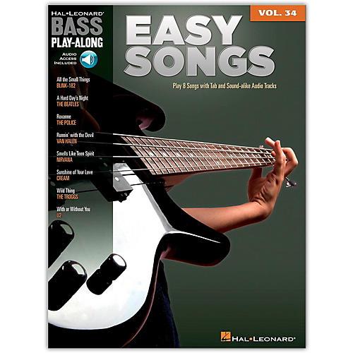 Hal Leonard Easy Songs - Bass Play-Along, Volume 34 (Book/online Audio)-thumbnail